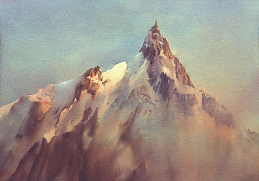 Aiguile_du_Midi_dawn_watercolour_72dpi528px